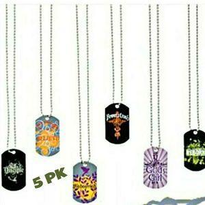 Jewelry - 5pk Unisex New dog tags
